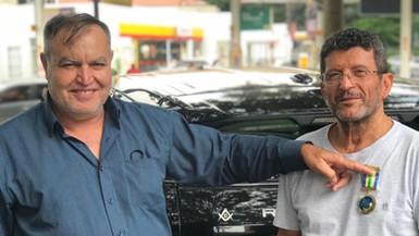 Irmão Samih fez gratuitamente a mudança do Irmão Roberto de Porto Velho para São Paulo.