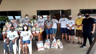 Loja Quéops nº11 Encerra atividades de 2020 com entrega de cestas básicas a entidades beneficentes.