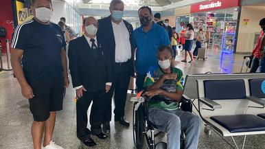 Irmão Roberto segue com seu tratamento em Salvador.