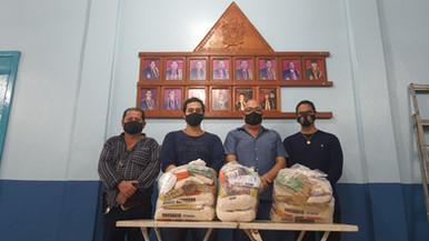 ARGBOLS Fé e Confiança nº01 e Cap. Almerindo Ribeiro dos Santos nº82 distribuem cestas básicas.