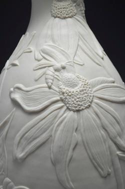 Detail-Rudbeckia nitida & Honey Beee