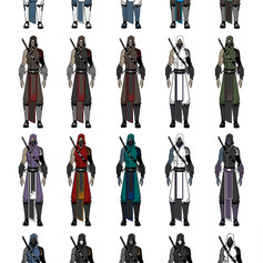 Ninja Empire Character Color Thumbs