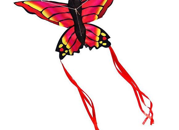 Воздушный змей Бабочка Красный Махаон