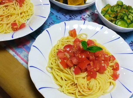 トマトの冷製パスタ~甘露酢で~