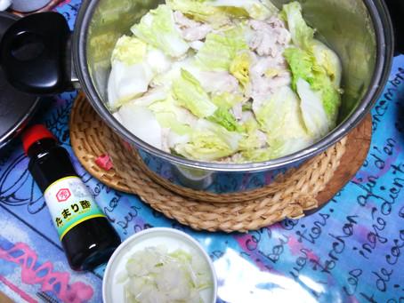 簡単!豚バラと白菜の重ね鍋!
