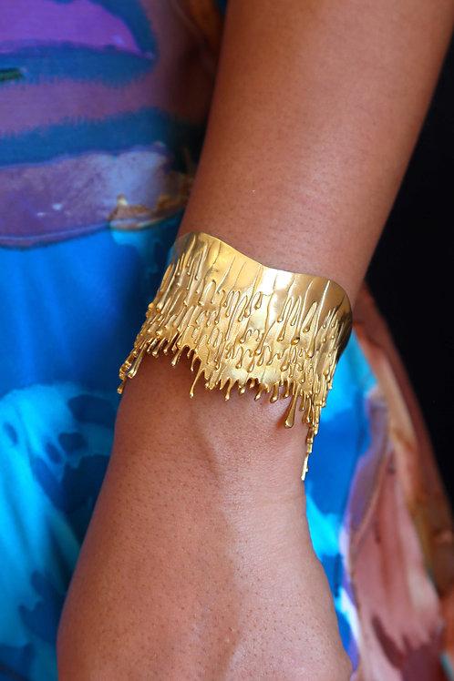 Gold Plated on Sterling Silver Gravity Bracelet