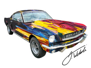 """ART MUSTANG by ANTONIO WEHRLI and Finissage of """"Galaxy Gravity"""""""