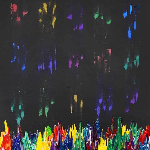 Galaxy Gravity 20210828B - 130cm x 150cm - Acrylic on Canvas - 2021