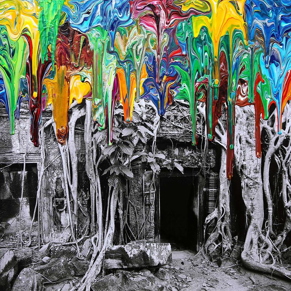 Temple Mystery - Gravity Cambodia - 2018 - artist Antonio Wehrli
