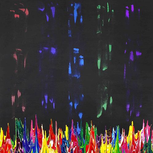 Galaxy Gravity 20210828A - 130cm x 150cm - Acrylic on Canvas - 2021