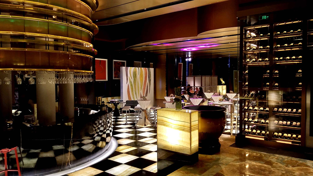 Lounge on 66th floor of Armani Casa Chengdu