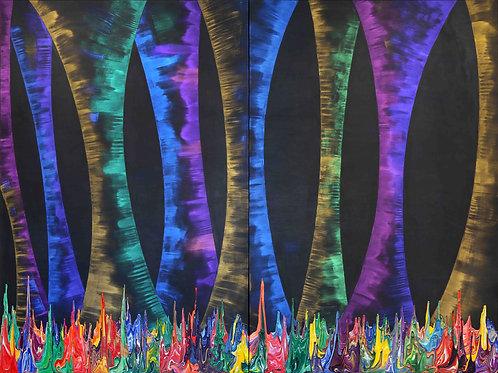 Galaxy Gravity 20210616 - 260cm x 195cm - Acrylic on Canvas - 2021