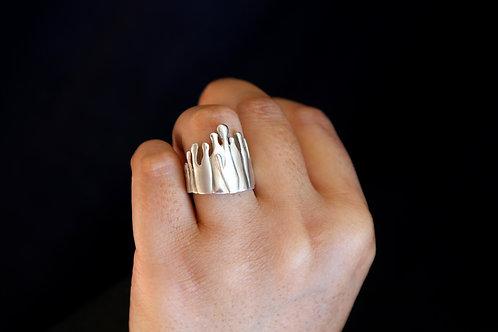 Sterling Silver Gravity Ring