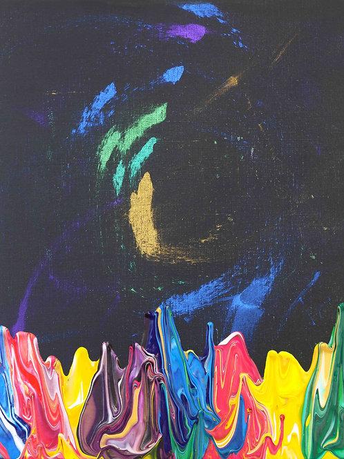 Galaxy Gravity 20210706 - 40cm x 50cm - Acrylic on Canvas - 2021