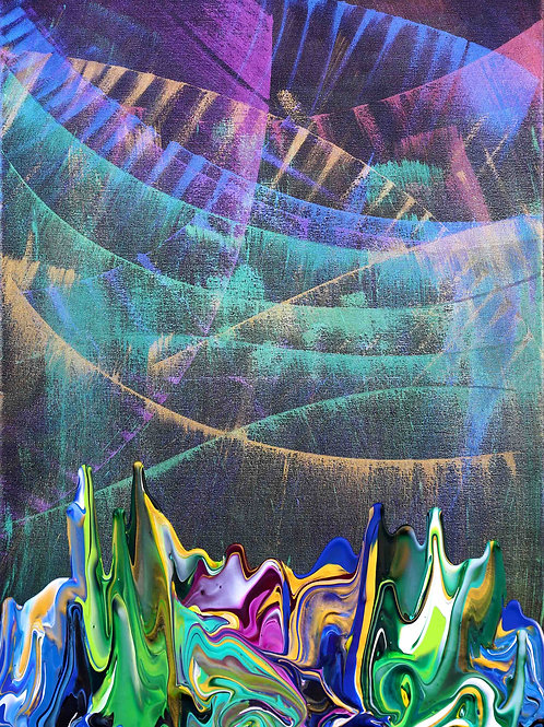 Galaxy Gravity 20201019 - 50x70 - Acrylic on Canvas - 2020