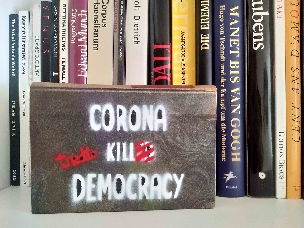 "Antonio Wehrli - ""Corona tried to kill Democracy"" limited edition book - 2020"