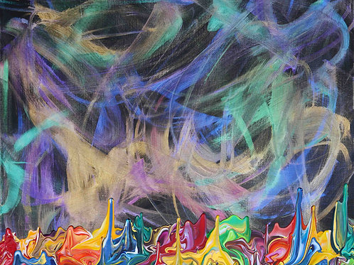 Galaxy Gravity 20201016 - 85x105 - Acrylic on Canvas - 2020