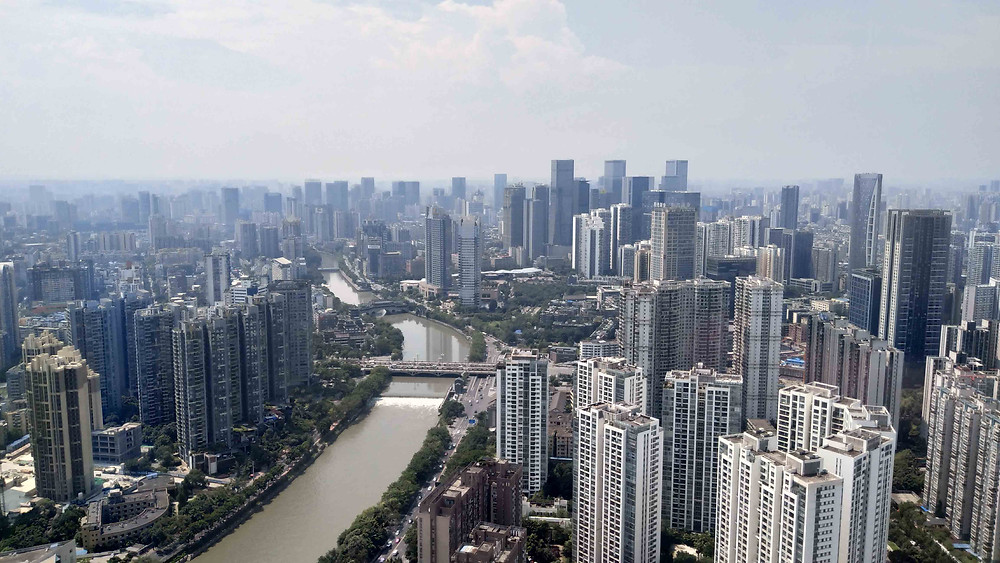 View from 66th floor of Armani Casa Chengdu