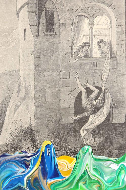 Ulrich von Lichtensteins grosses Abenteuer - 10cmx 16cm- 2020