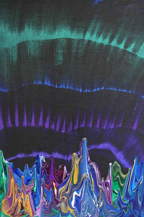 Galaxy Gravity 20210608 - 45cm x 65cm - Acrylic on Canvas - 2021