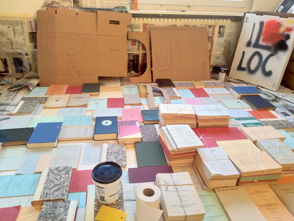 Antonio Wehrli - preparing a new artwork