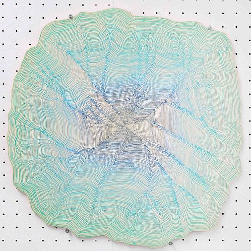 Ohne Titel 11 - around 50cm x 50cm - ink on wood