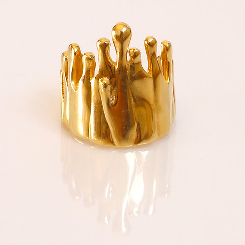 18k Gold Gravity Ring