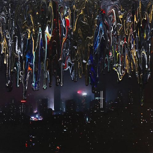 Batman's Chongqing - 90x90 - Acrylic on Photo on Canvas - 2018