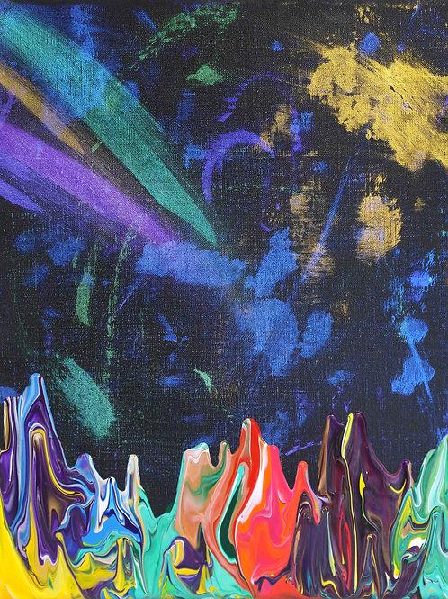 Galaxy Gravity 20210708 - 40cm x 50cm - Acrylic on Canvas - 2021