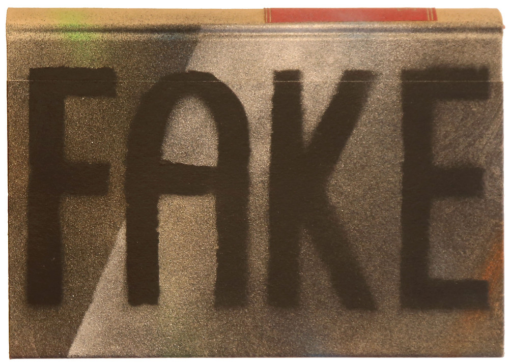 "Antonio Wehrli - a book with ""FAKE"", part of the artwork ""Outbreak"""