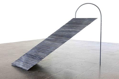 Huldra - 55cm x 90cm x 132cm -  ink on wood, steel