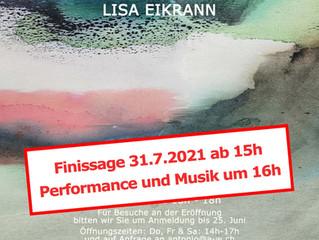 """Finissage of """"Wenn die Berge dein Meer werden"""" at Antonio Wehrli Art Space"""
