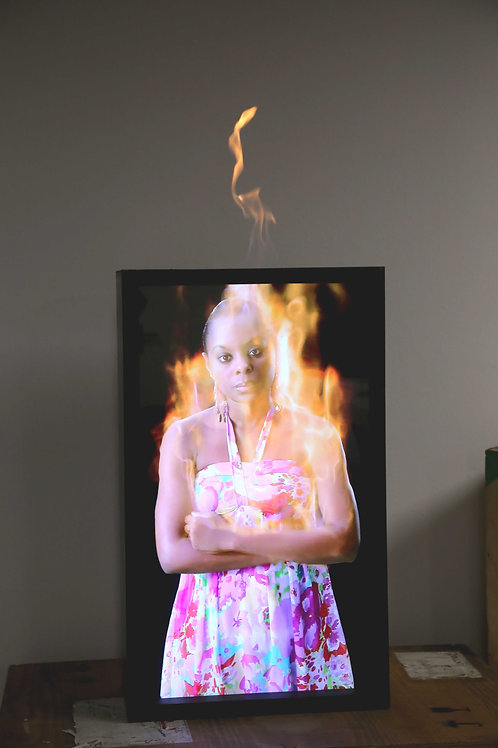 MARCK, Untitled - burning, 87cm x 52cm x 24cm, Edition of 8 +AP