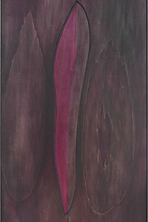 Heimkehr - 60cm x 120cm - ink on wood, steel frame