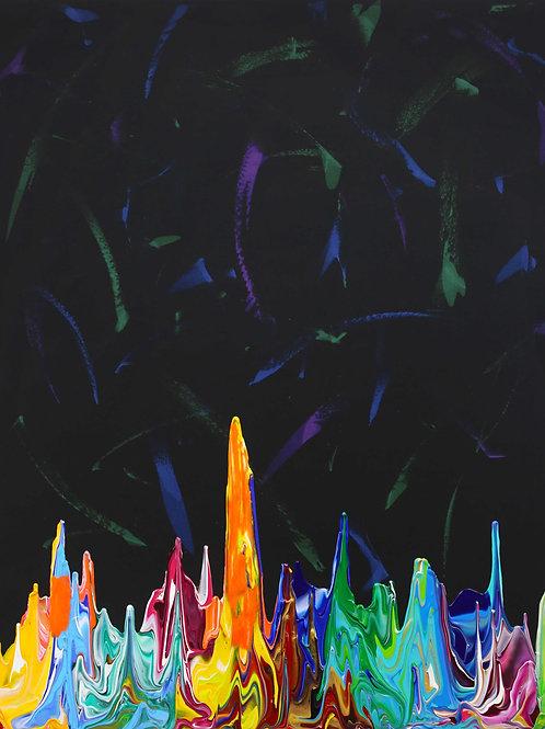 Galaxy Gravity 20210818B - 100cm x 120cm - Acrylic on Cotton - 2021