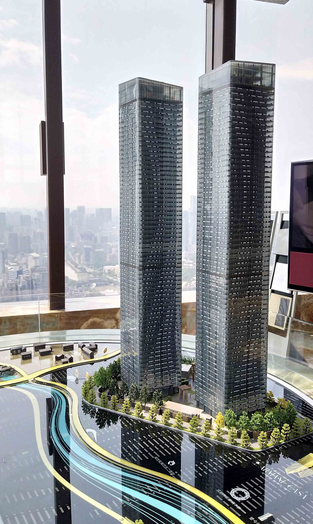 Armani Casa Chengdu Twin Tower model