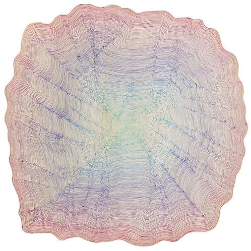 SOLD - Ohne Titel 14 - around 50cm x 50cm - ink on wood