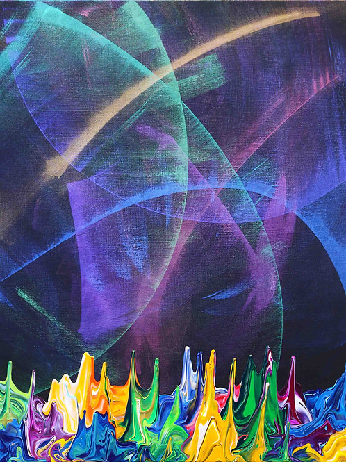 Galaxy Gravity 20201018 - 85x105 - Acrylic on Canvas - 2020