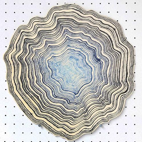 Ohne Titel 1 - around 40cm x 40cm - ink on wood