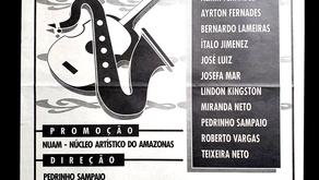 Cartaz e folder do show JAZZ, BOSSA e CIA (1995)