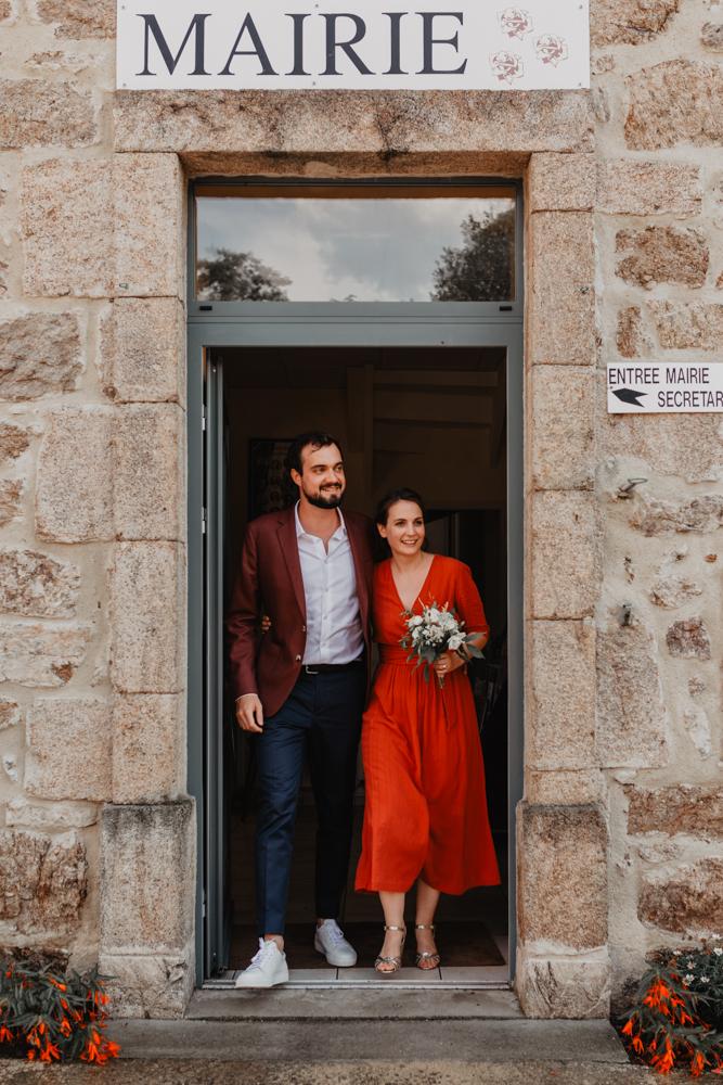 photographe mariage Ardèche Rhône Alpes civil sortie mairie