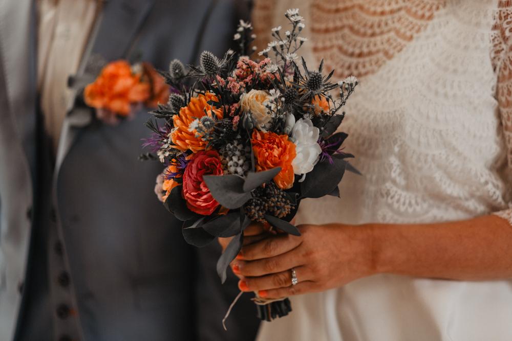 mariage boho bouquet fleurs mariée
