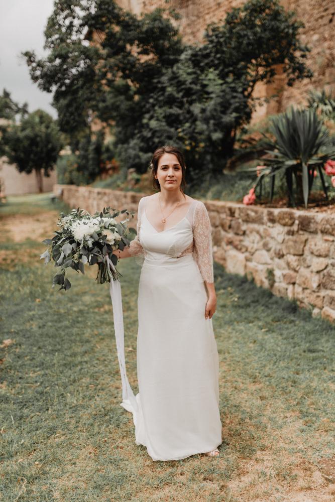 photographe mariage bohème Ardèche Rhône Alpes premier regard bouquet portrait mariée