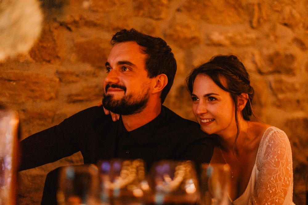 photographe mariage bohème Ardèche Rhône Alpes soirée discours
