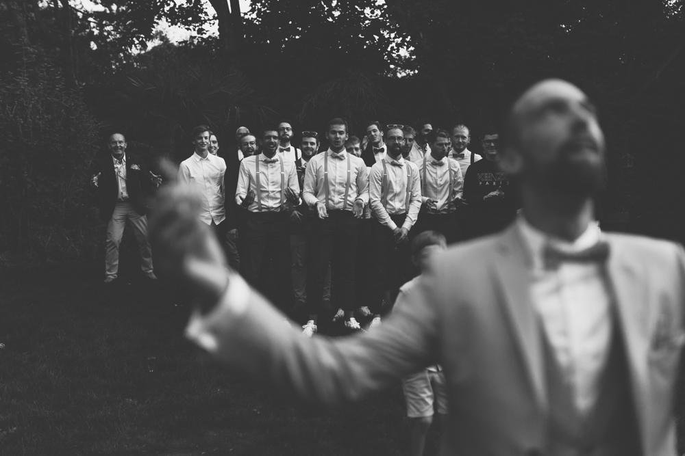 photographe mariage nord cote d'opale lancé boutonnière marié