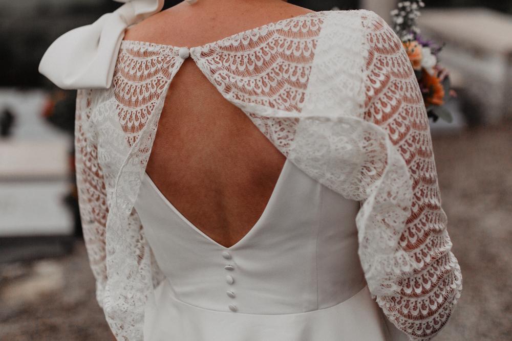 mariage boho Nord robe de mariée dos dentelle