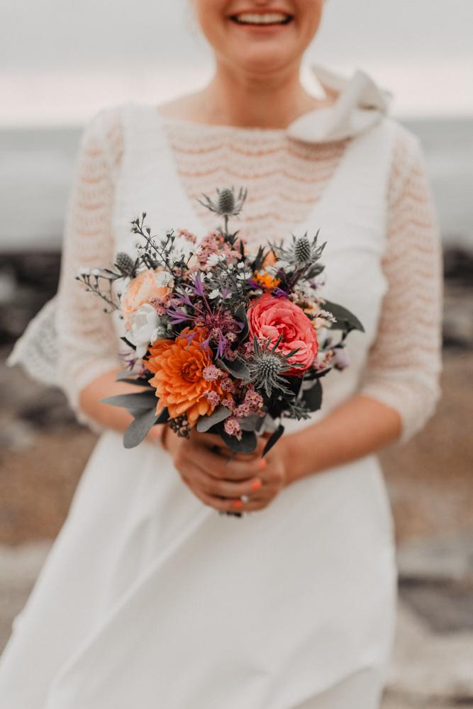 mariage boho bouquet de fleurs mariée