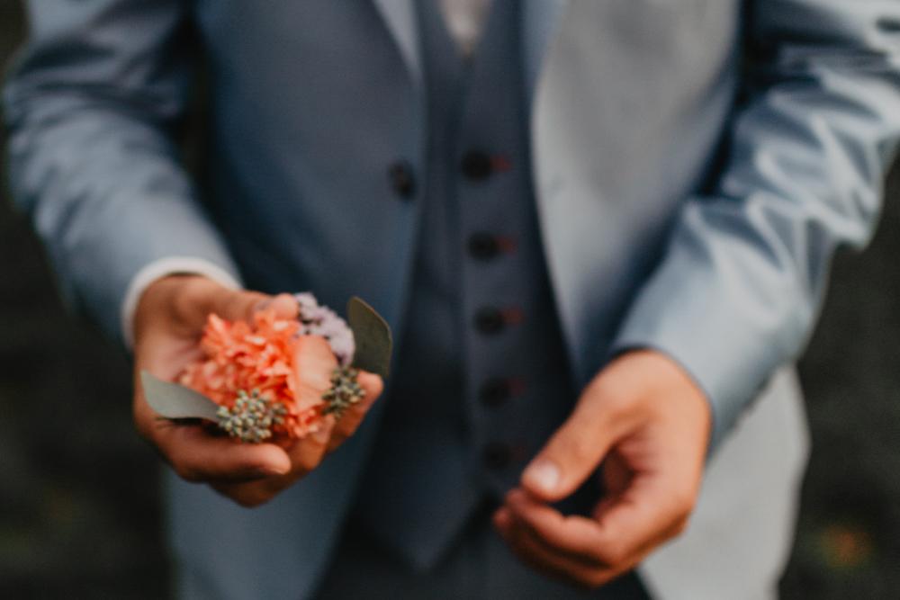 mariage bohème nord boutonnière marié témoin costume