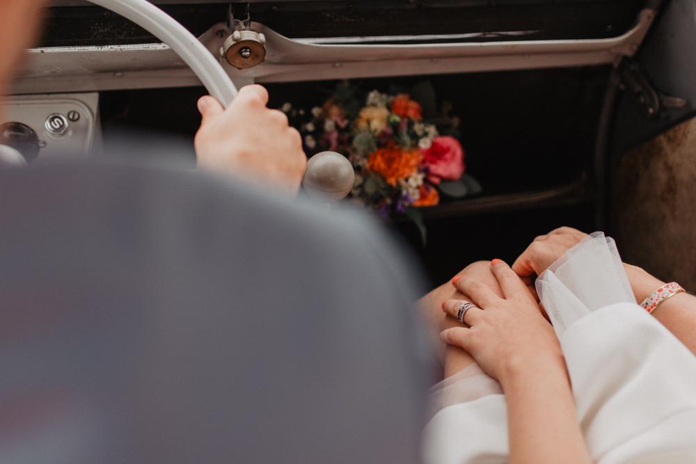 mariage Nord Lille 2CV alliance décoration fleurs