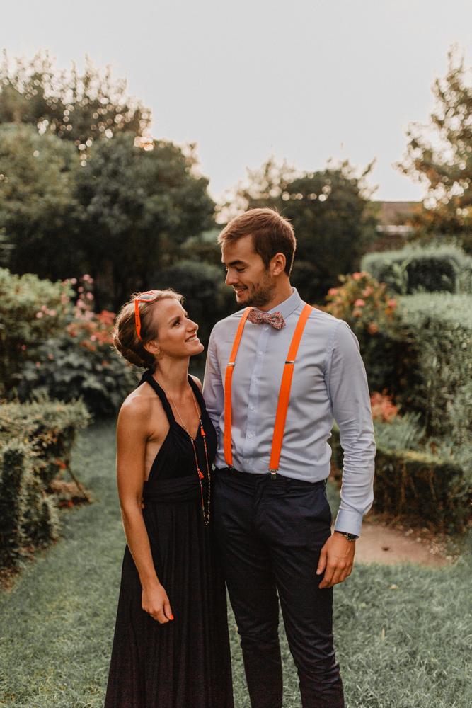 mariage bohème Nord séance couple invités heure dorée